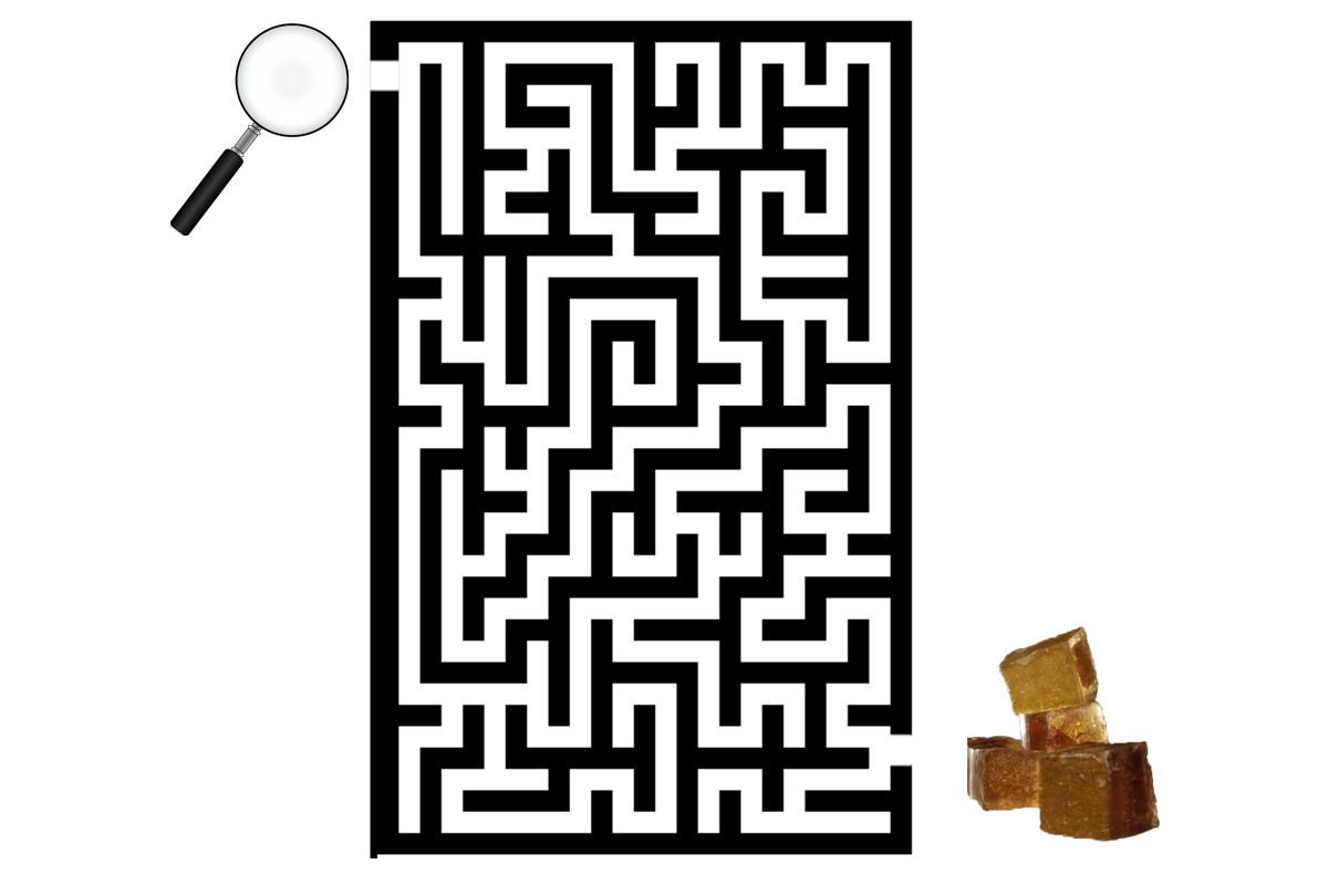 znajdź wyjście z labiryntu